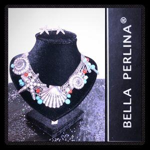 Bella Perlina Collection. Seashells Jewelry Set.
